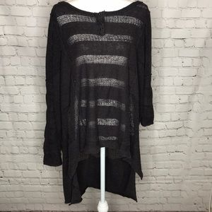 Free People oversized knit top